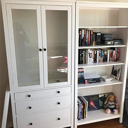 Cabinet and bookcase