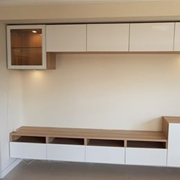 Wall unit and entertainment unit