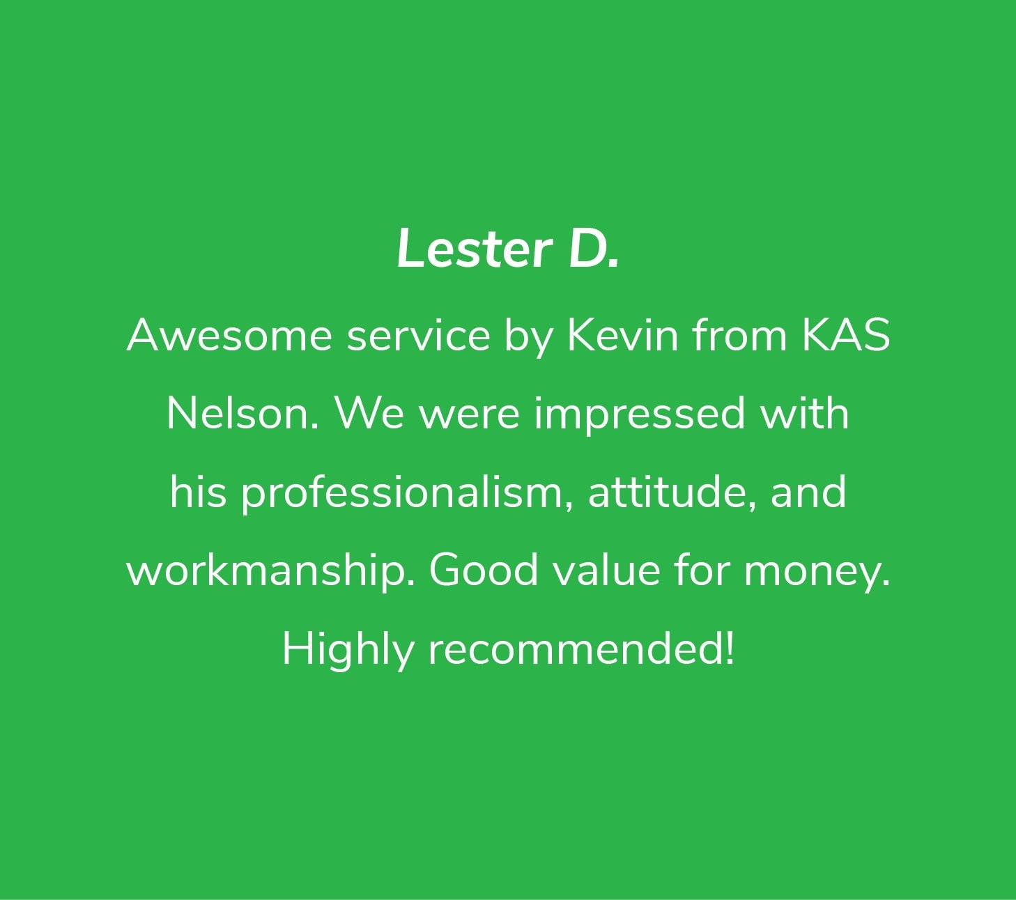 Customer review from Lester D
